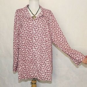 Catherines Button Front Bicycle Design Top 1x A323